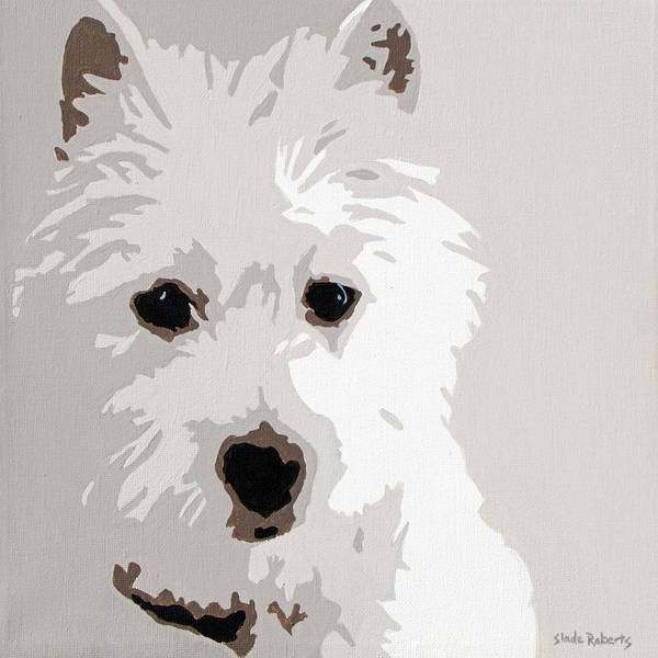 Westie Print featuring the painting Westie by Slade Roberts