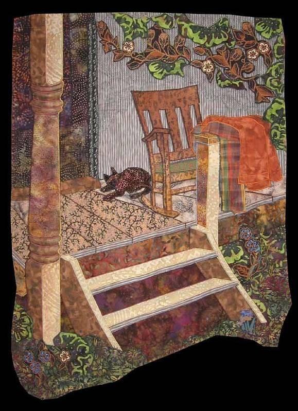 Old Porch Print featuring the tapestry - textile What A Time It Was by Carol Bridges