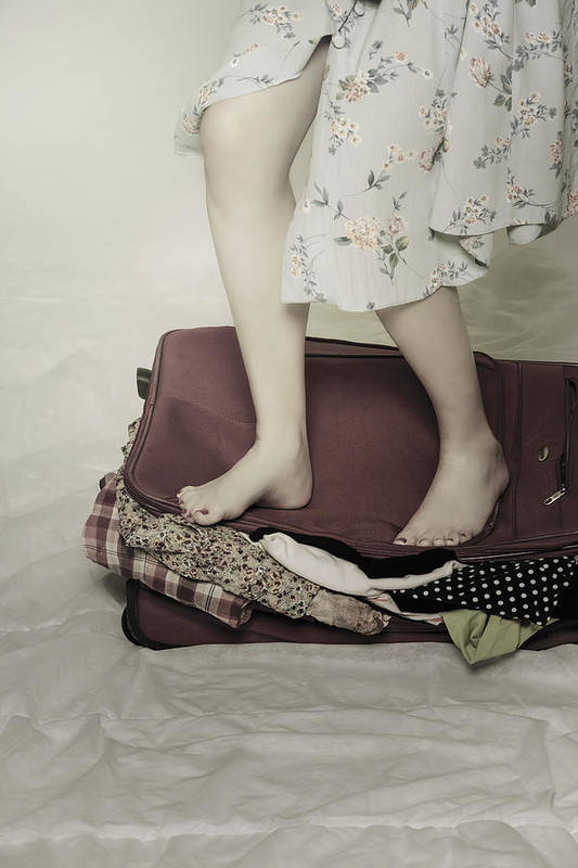 Woman Print featuring the photograph When A Woman Travels by Joana Kruse