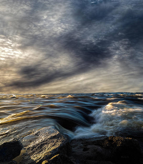 Nature Print featuring the photograph Where The River Kisses The Sea by Bob Orsillo