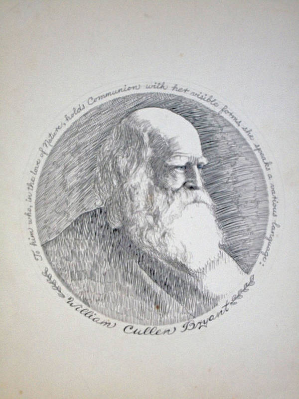 William Cullen Bryant; Poet; Romantic; Journalist; New York Evening Post; Canvas; Henry Goode; Thanatopsis; Exponent Of Abraham Lincoln; Illiad And Odyssey; Public High School In Long Island City; Bryant Park In New York; Print featuring the drawing William Cullen Bryant by Henry Goode