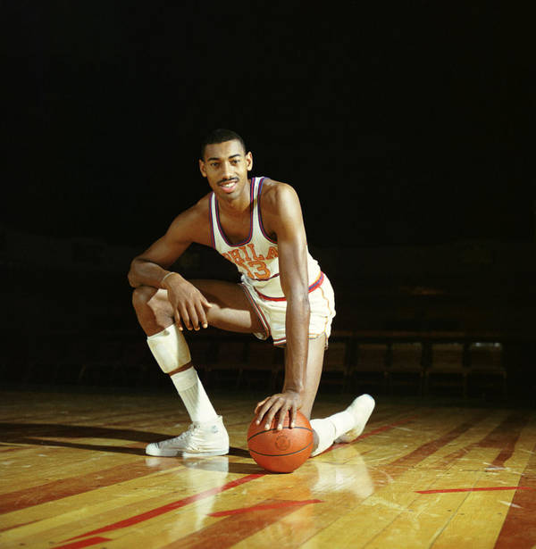 Marvin Newman Print featuring the photograph Wilt Chamberlain by Retro Images Archive