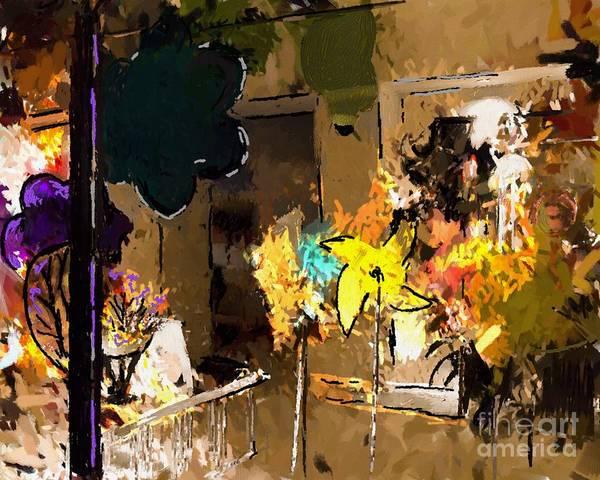 Abstract Print featuring the digital art Window Dressing As Still Life by Arne Hansen