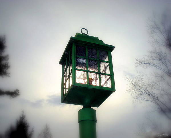 Lightpost Print featuring the photograph Winter Light by J Allen