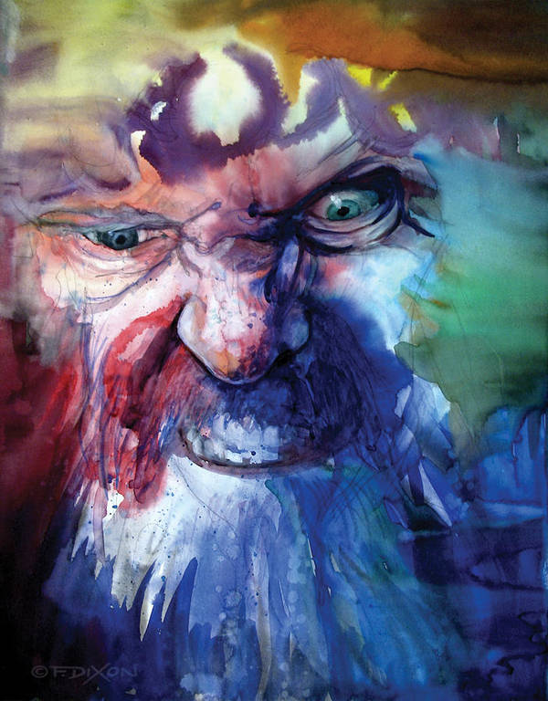 Emotions Print featuring the painting Wizzlewump by Frank Robert Dixon