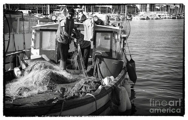 Working The Nets Print featuring the photograph Working The Nets by John Rizzuto