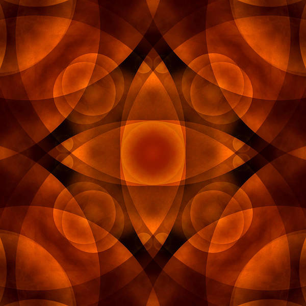 Abstract Print featuring the photograph Worlds Collide 15 by Mike McGlothlen
