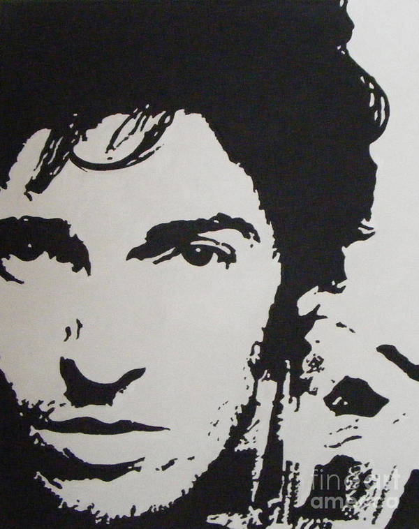 Bruce Springsteen Print featuring the painting Young Boss by ID Goodall