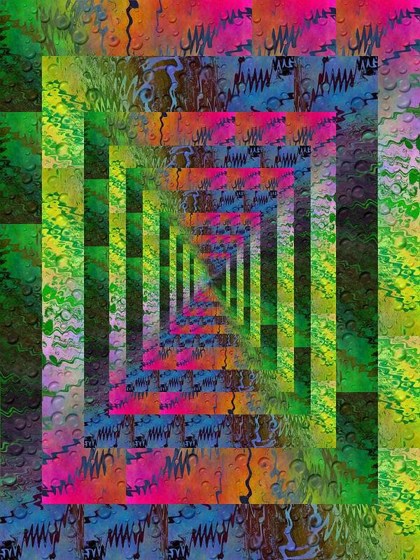 Abstract Print featuring the digital art After The Rain 4 by Tim Allen