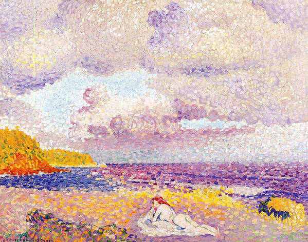 An Incoming Storm Print featuring the painting An Incoming Storm by Henri-Edmond Cross
