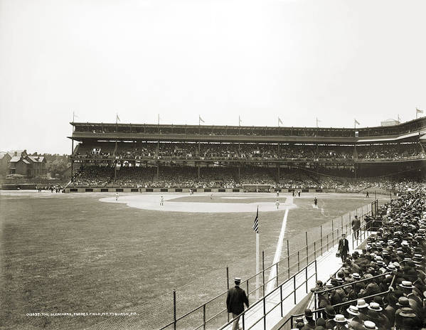 1912 Print featuring the photograph Baseball Game, C1912 by Granger