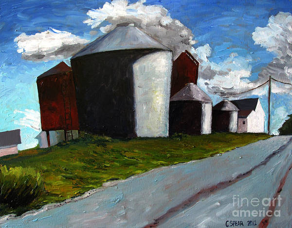Silos Print featuring the painting Big Boys by Charlie Spear