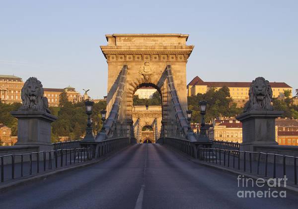 Budapest Print featuring the photograph Bridge by David Buffington