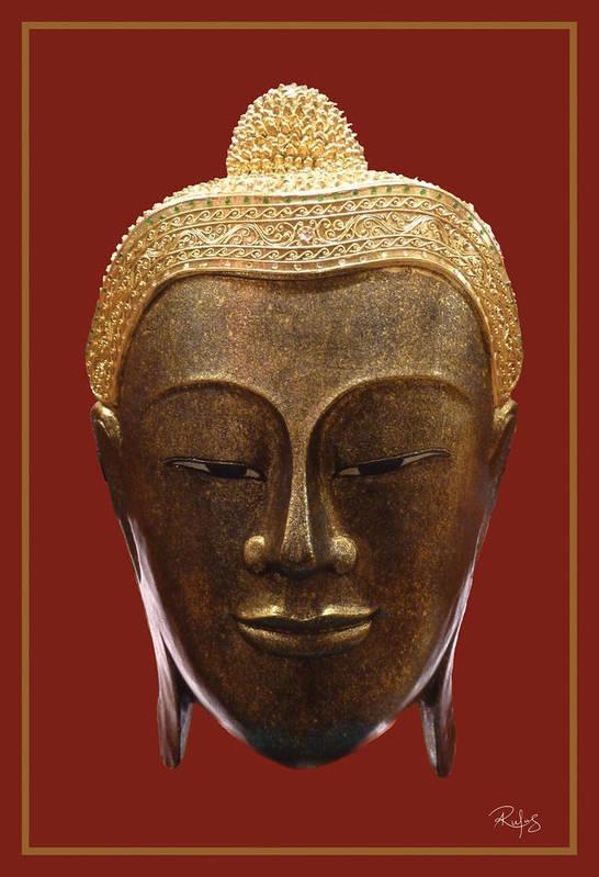 Buddha Print featuring the photograph Buddha's Pleasure by Allan Rufus