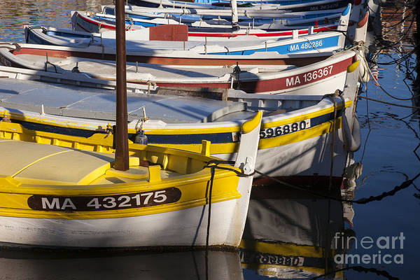 Boating Print featuring the photograph Cassis Boats by Brian Jannsen