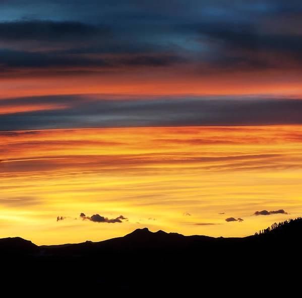 Colorado Print featuring the photograph Colorado Sunrise by Bronze Riser