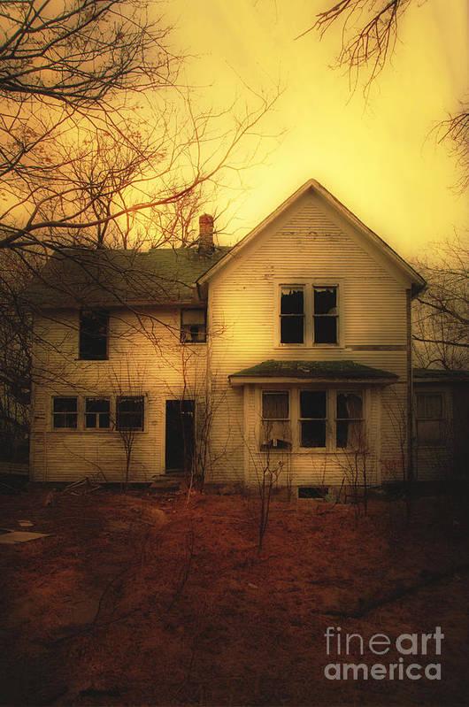 House Print featuring the photograph Creepy Abandoned House by Jill Battaglia