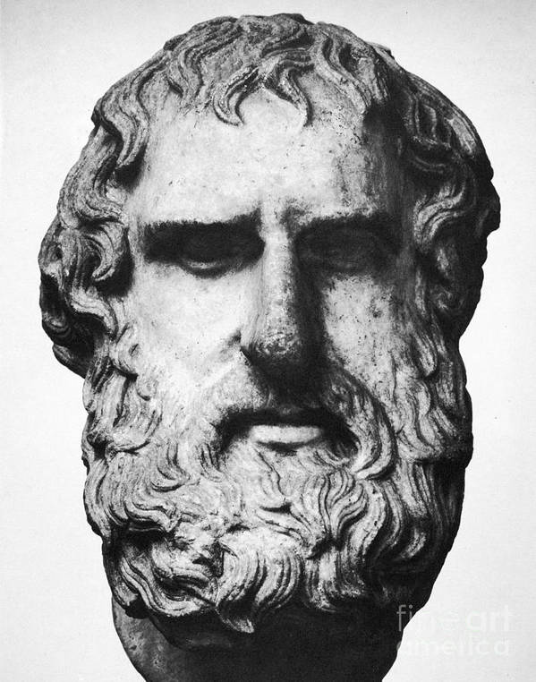 5th Century B.c Print featuring the photograph Euripides by Granger