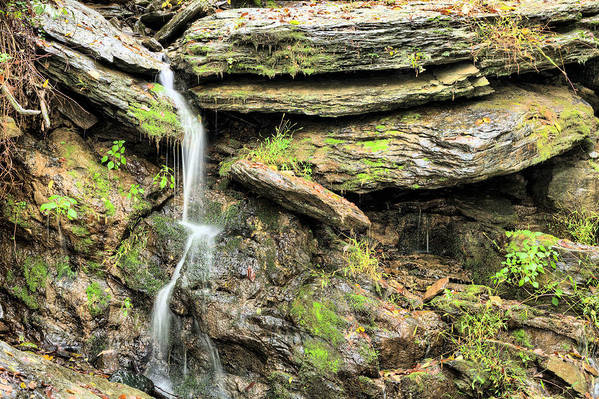 Waterfall Mountain Mountains Creek Stream Spring Fed Natural Nature Harpers Ferry West Virginia Wv Va Md Maryland Potomac Shenandoah River Rivers Basin Watershed Falling Waters Print featuring the photograph Falling Waters by JC Findley