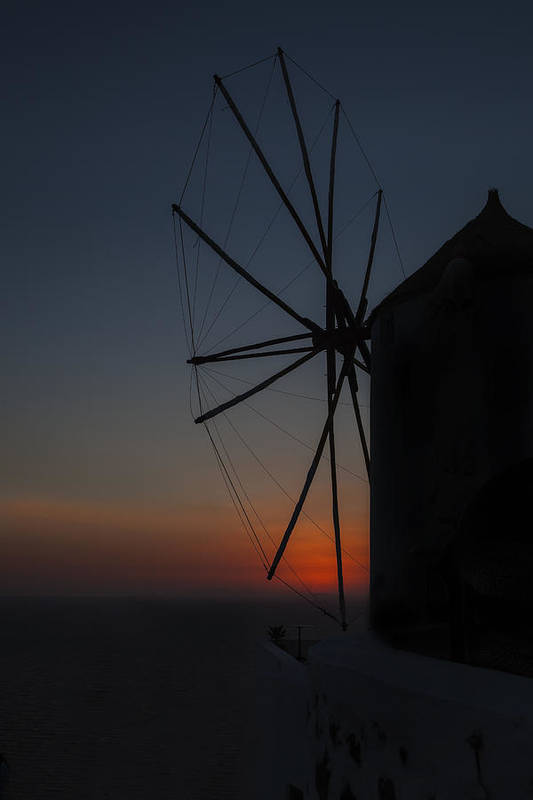 Mill Print featuring the photograph Greek Windmill by Joana Kruse