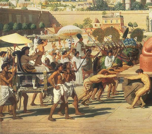 Lioness Print featuring the painting Israel In Egypt by Sir Edward John Poynter