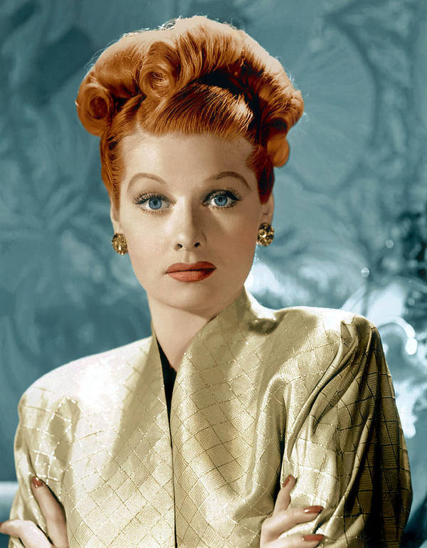 1940s Portraits Print featuring the photograph Lucille Ball, Ca. Mid-1940s by Everett