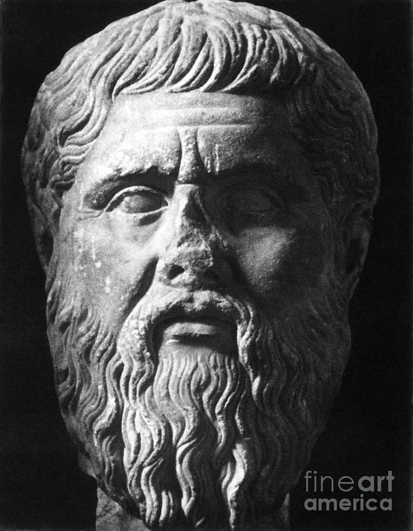 4th Century B.c Print featuring the photograph Plato (c427 B.c.-c347 B.c.) by Granger