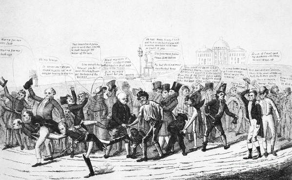 1824 Print featuring the photograph Presidential Campaign, 1824 by Granger