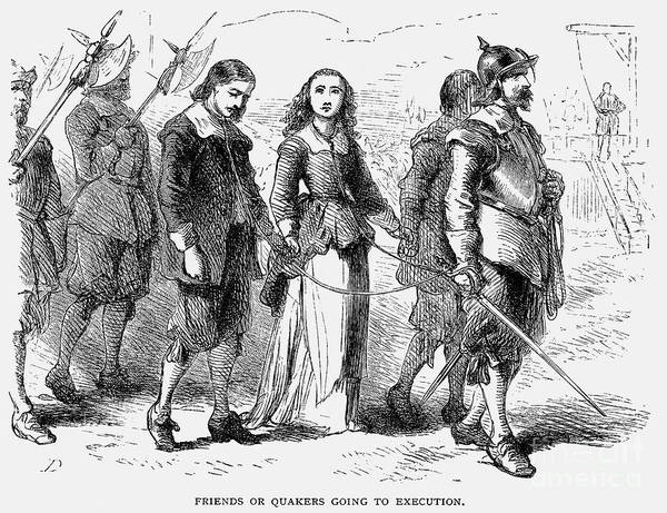 1660 Print featuring the photograph Quakers: Mary Dyer, 1659 by Granger