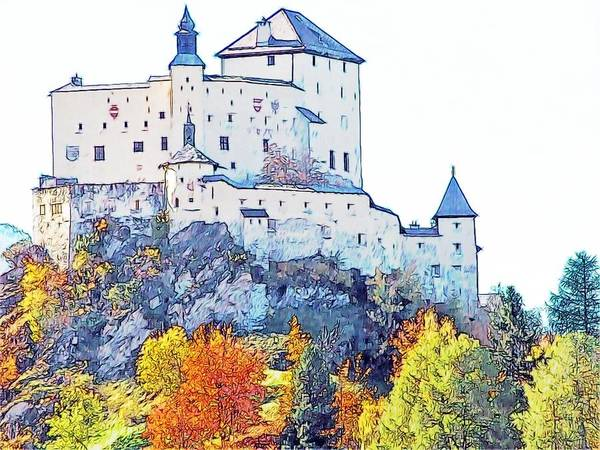 Europe Print featuring the photograph Schloss Tarasp Switzerland by Joseph Hendrix