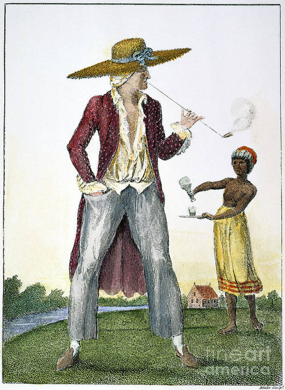 1796 Print featuring the photograph Surinam: Slave Owner, 1796 by Granger