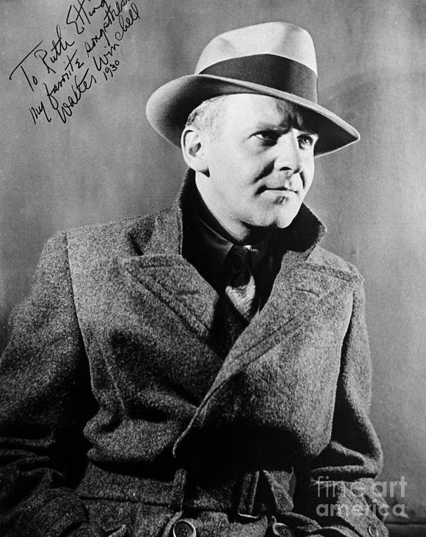 1940 Print featuring the photograph Walter Winchell (1897-1972) by Granger