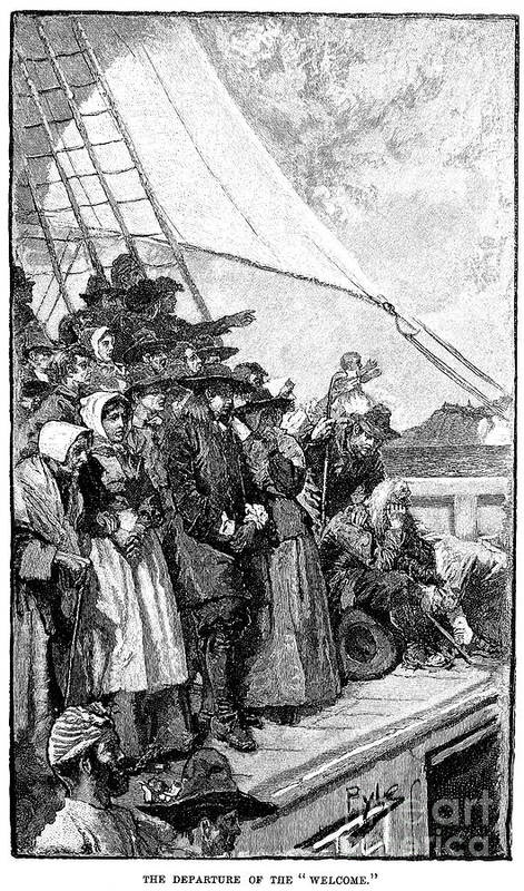 1682 Print featuring the photograph William Penn (1644-1718) by Granger