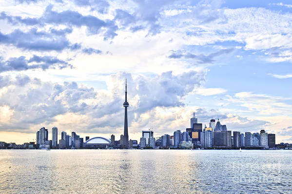 Toronto Print featuring the photograph Toronto Skyline by Elena Elisseeva