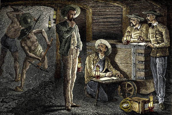 Equipment Print featuring the photograph 19th-century Coal Mining by Sheila Terry