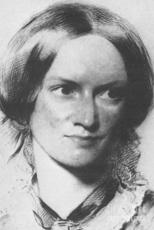 Charlotte Bronte Print featuring the photograph Charlotte Bronte, English Author by Science Source