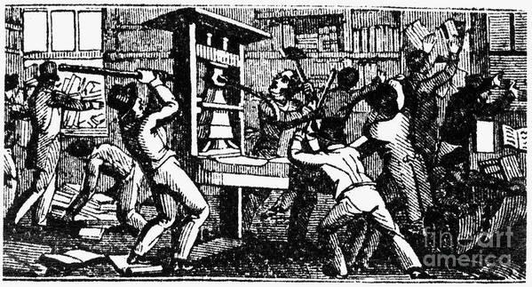 1838 Print featuring the photograph Elijah Parish Lovejoy by Granger