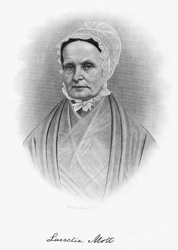 19th Century Print featuring the photograph Lucretia Coffin Mott by Granger