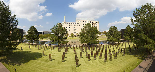 National Print featuring the photograph Oklahoma City National Memorial by Ricky Barnard