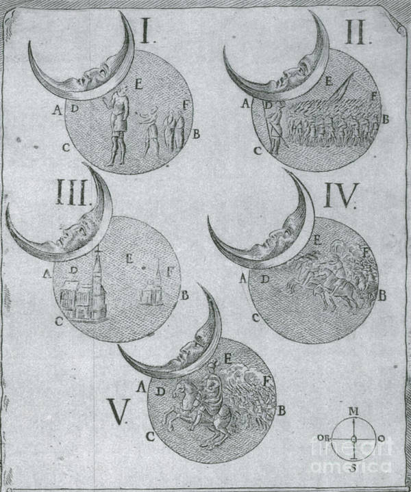 Astrology Print featuring the photograph Phases Of An Eclipse by Science Source