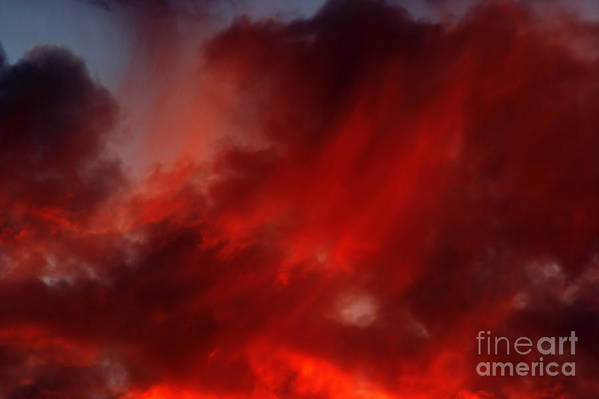 Rosy Sky Print featuring the photograph Rosy Sky by Michal Boubin