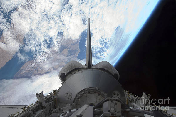 Horizontal Print featuring the photograph Space Shuttle Endeavours Payload Bay by Stocktrek Images