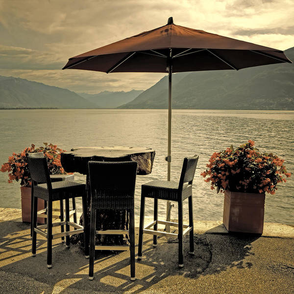 Brissago Print featuring the photograph Table And Chairs by Joana Kruse