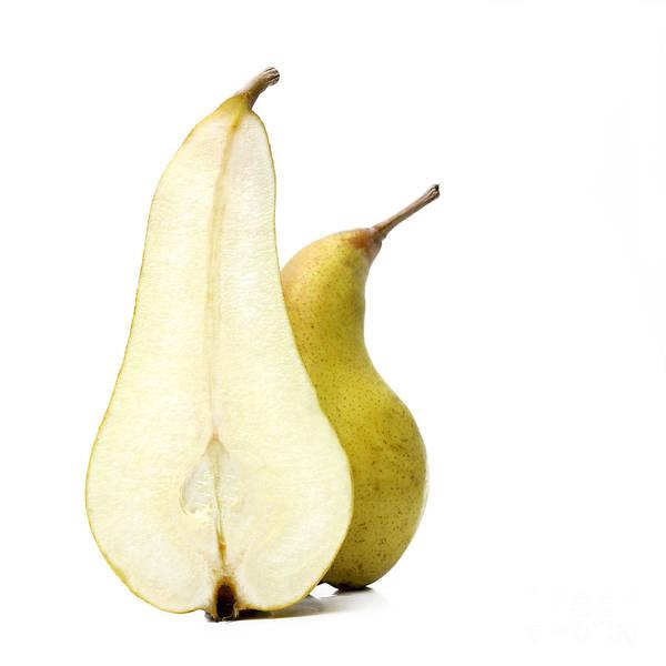 Studio Shot Print featuring the photograph Two Pears by Bernard Jaubert