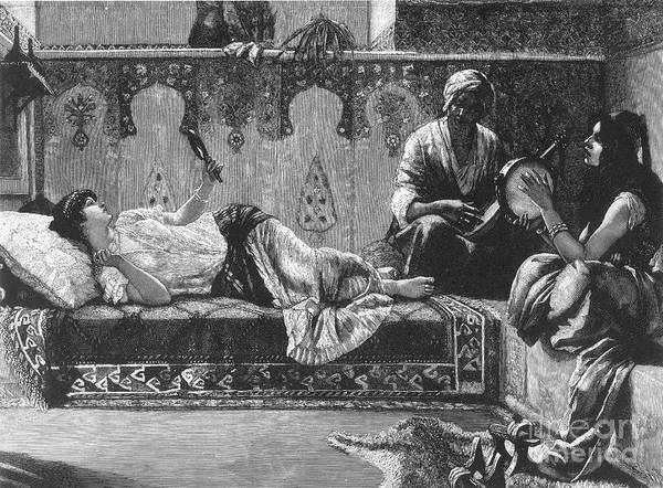 19th Century Print featuring the photograph Harem by Granger