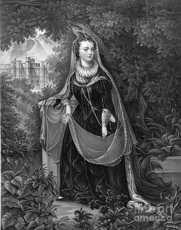 History Print featuring the photograph Mary Queen Of Scots by Photo Researchers