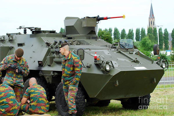 12.7mm Print featuring the photograph The Pandur 6x6 Family Of Wheeled by Luc De Jaeger