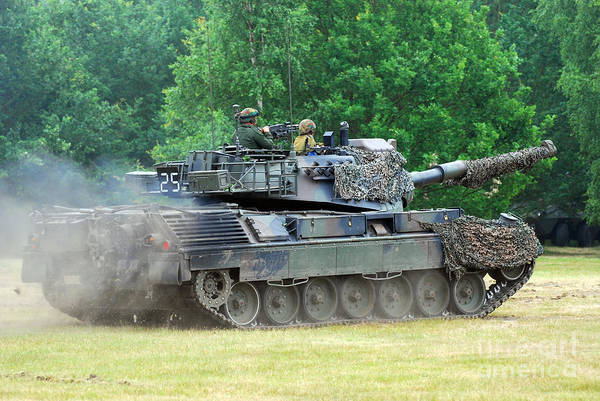 Military Print featuring the photograph The Leopard 1a5 Main Battle Tank by Luc De Jaeger