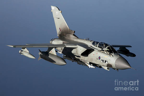 Libya Print featuring the photograph A Panavia Tornado Gr4 Of The Royal Air by Gert Kromhout
