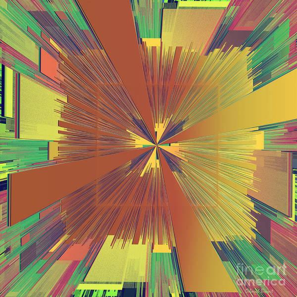 Abstract Print featuring the digital art Abstract 4 by Deborah Benoit